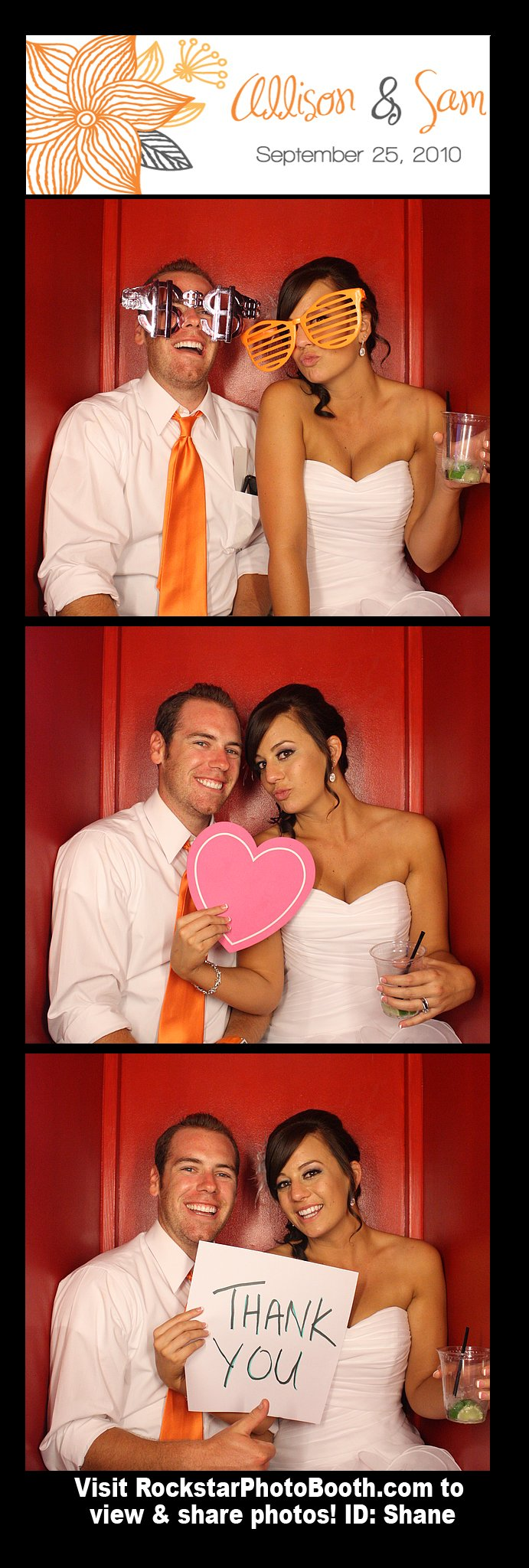 The photobooth at our wedding from the awesome guys at Rockstar Photobooth