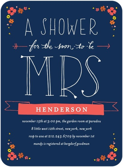 blue and pink shower invite
