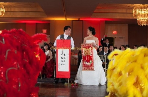 lion dance couple