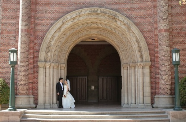 USC campus wedding