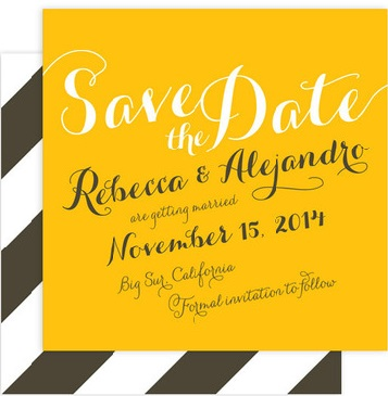 yellow and gray save the date