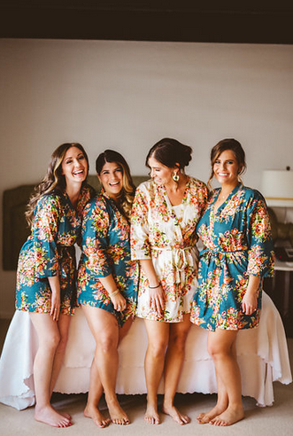 matching robes bridal party