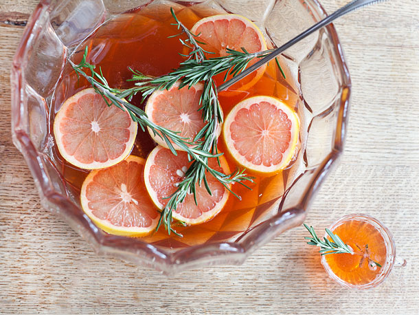 rosemary aperol punch